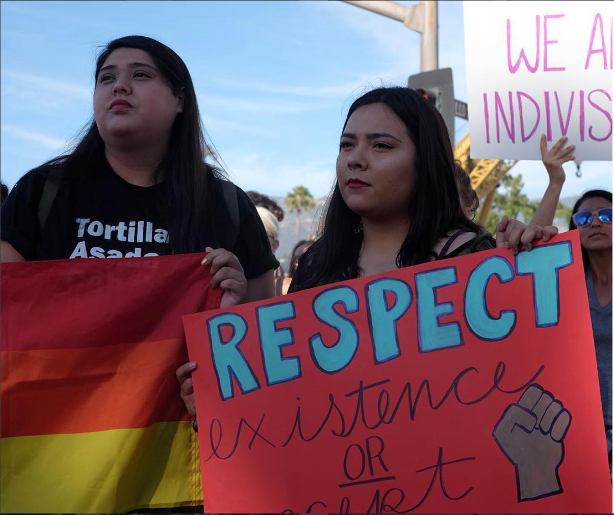 Santa Barbara, CA. Protestors march in solidarity against Trump in downtown SB. #SnapshotLives  #California  #fujixt1