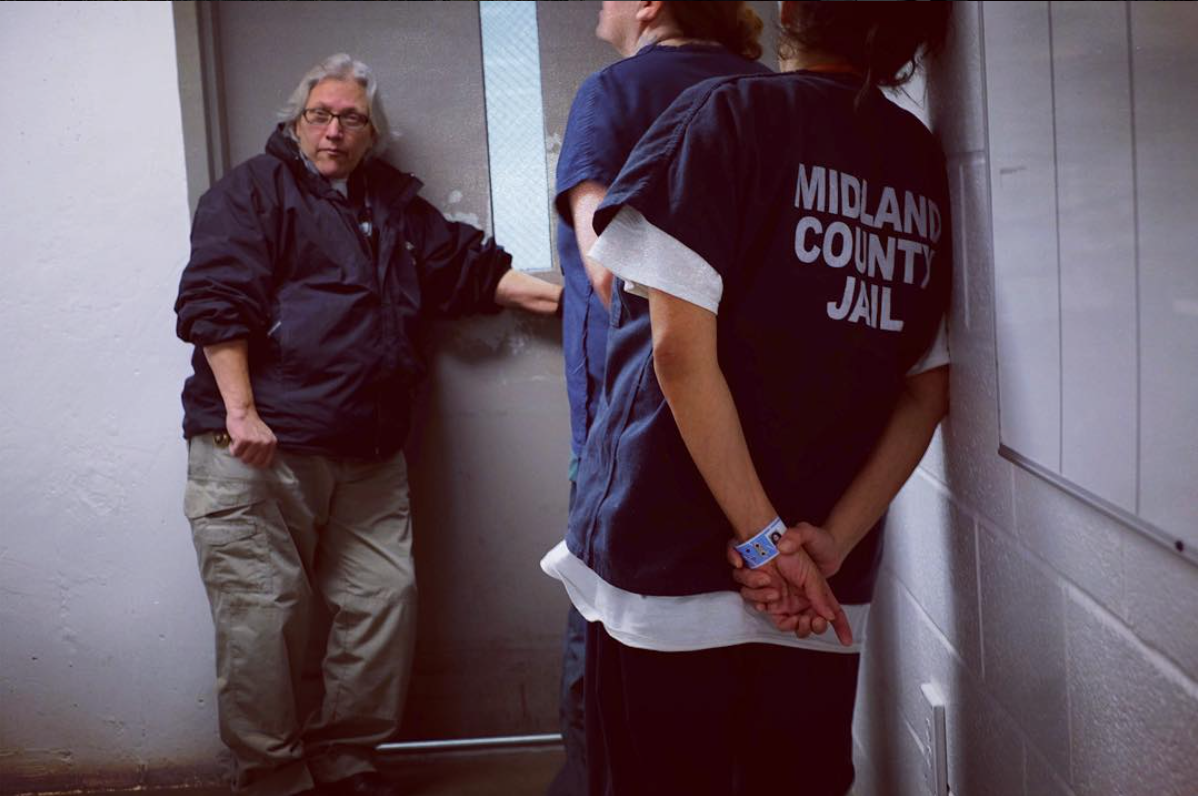 Midland, TX. Corporal Rebecca Patterson escorts inmates from medical in Midland County Jail. I followed a jailer on Christmas Day, story here:  http://m.mrt.com/news/top_stories/article_58a93c7e-b664-11e5-afea-5fb046d905e2.html?mode=jqm  #MidlandTX  #jail  #Christmas  #SnapshotLives