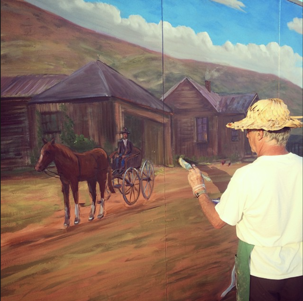 Moulton Ranch Mural by Walter Viszolay