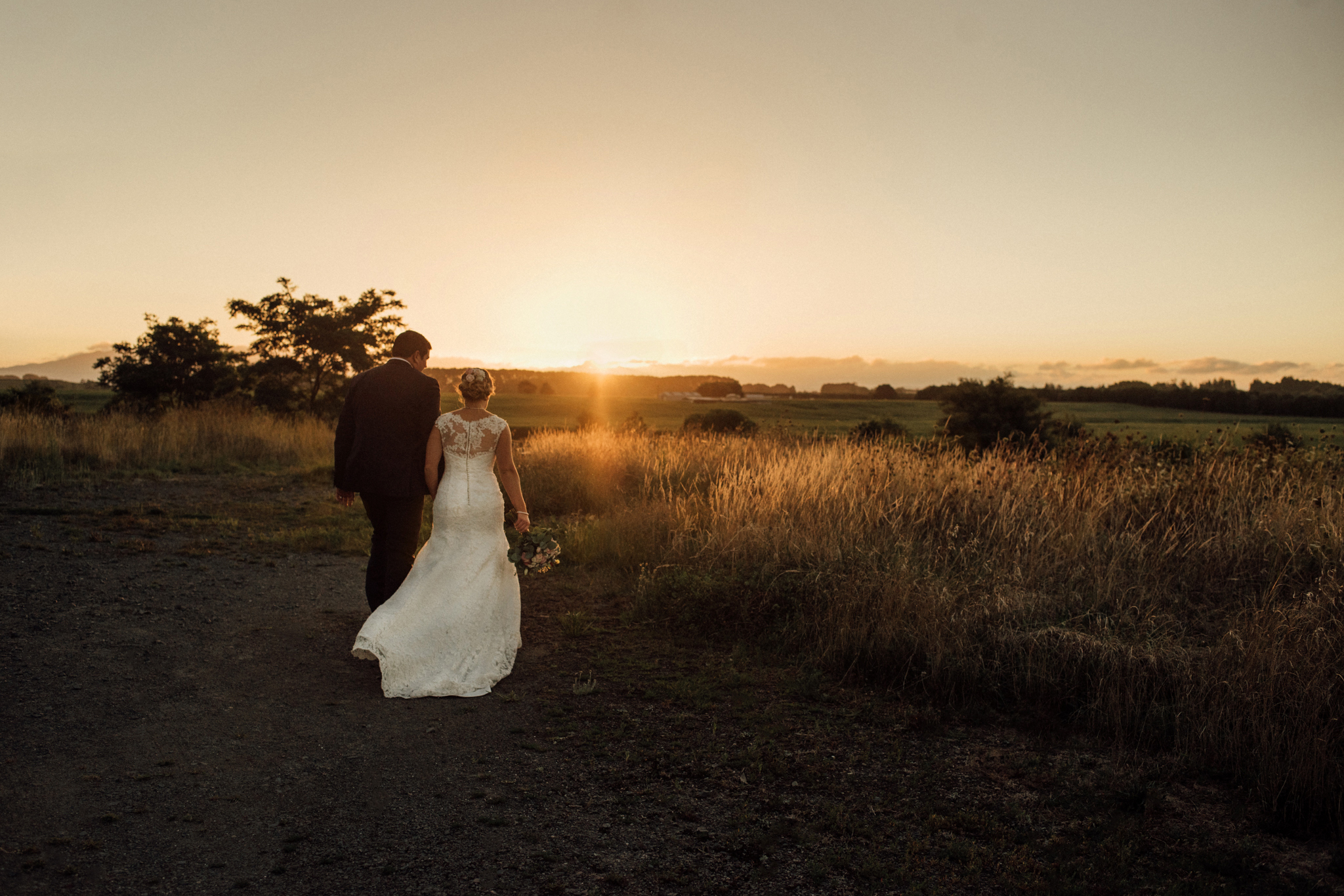 Wedding photography Waikato The narrows Landing sunset