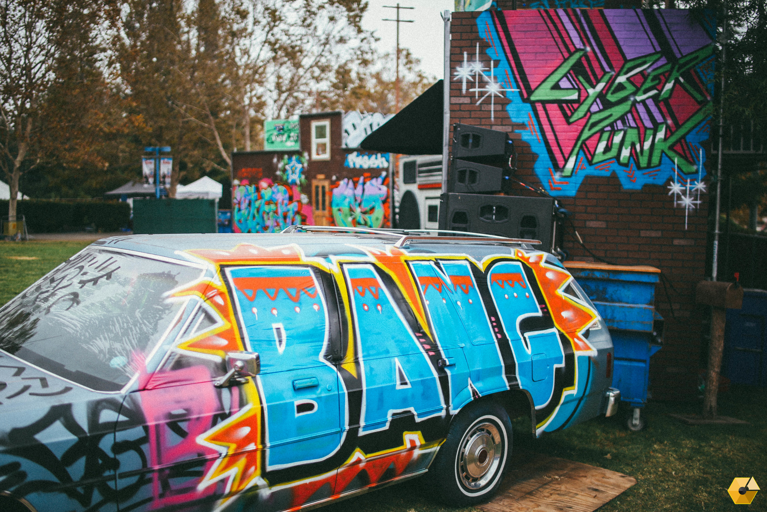 Can't be the 80's if there isn't a spray-painted station wagon parked on the block.