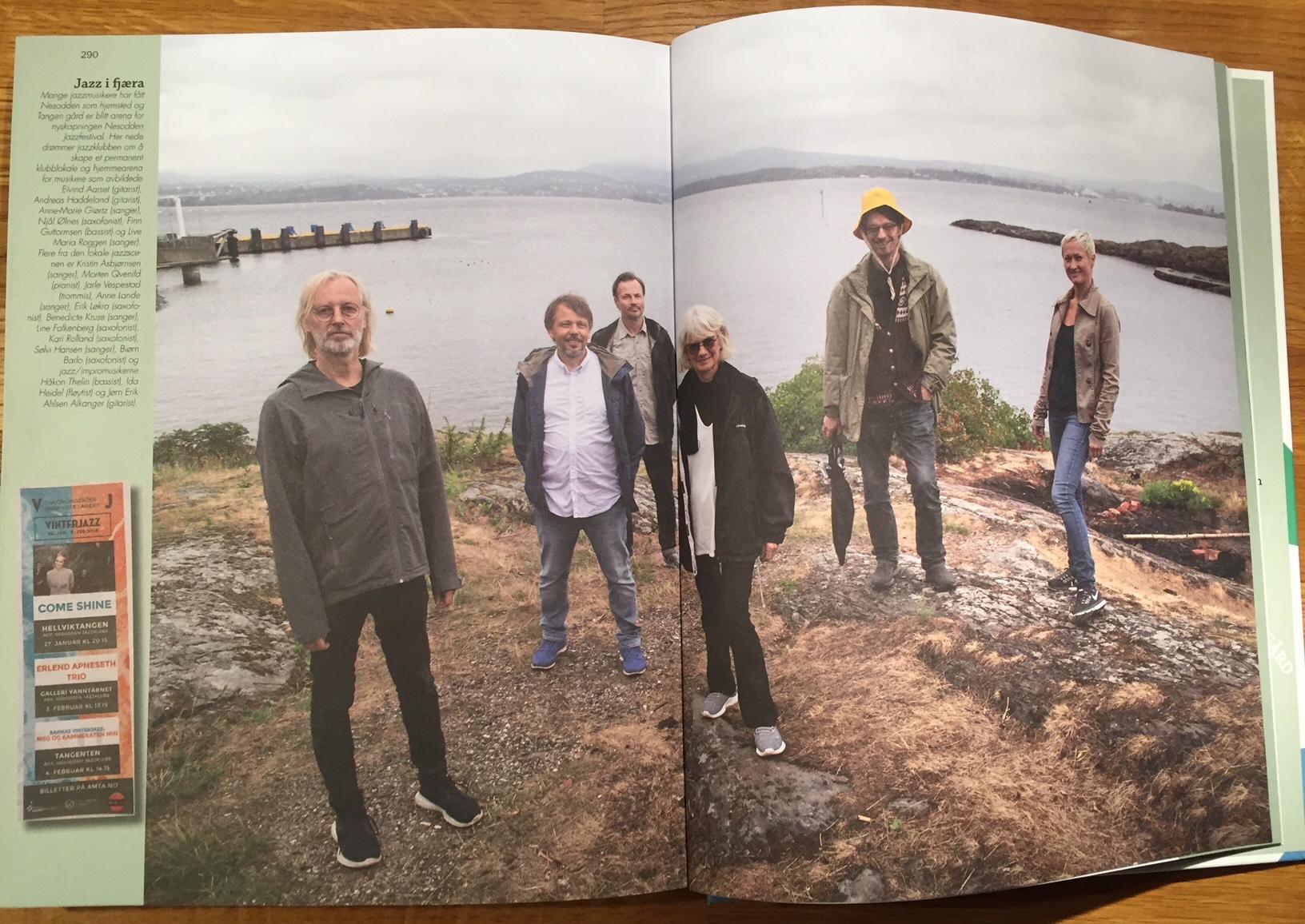 "From the book ""Kunstnerkommunen"" by Kathrine Geard (Ford forlag 2018). From left: Eivind Aarset, Andreas Haddeland, Njål Ølnes, Anne-Marie Giørtz, Finn Guttormsen, Live Maria Roggen. Photo: Kathrine Geard"