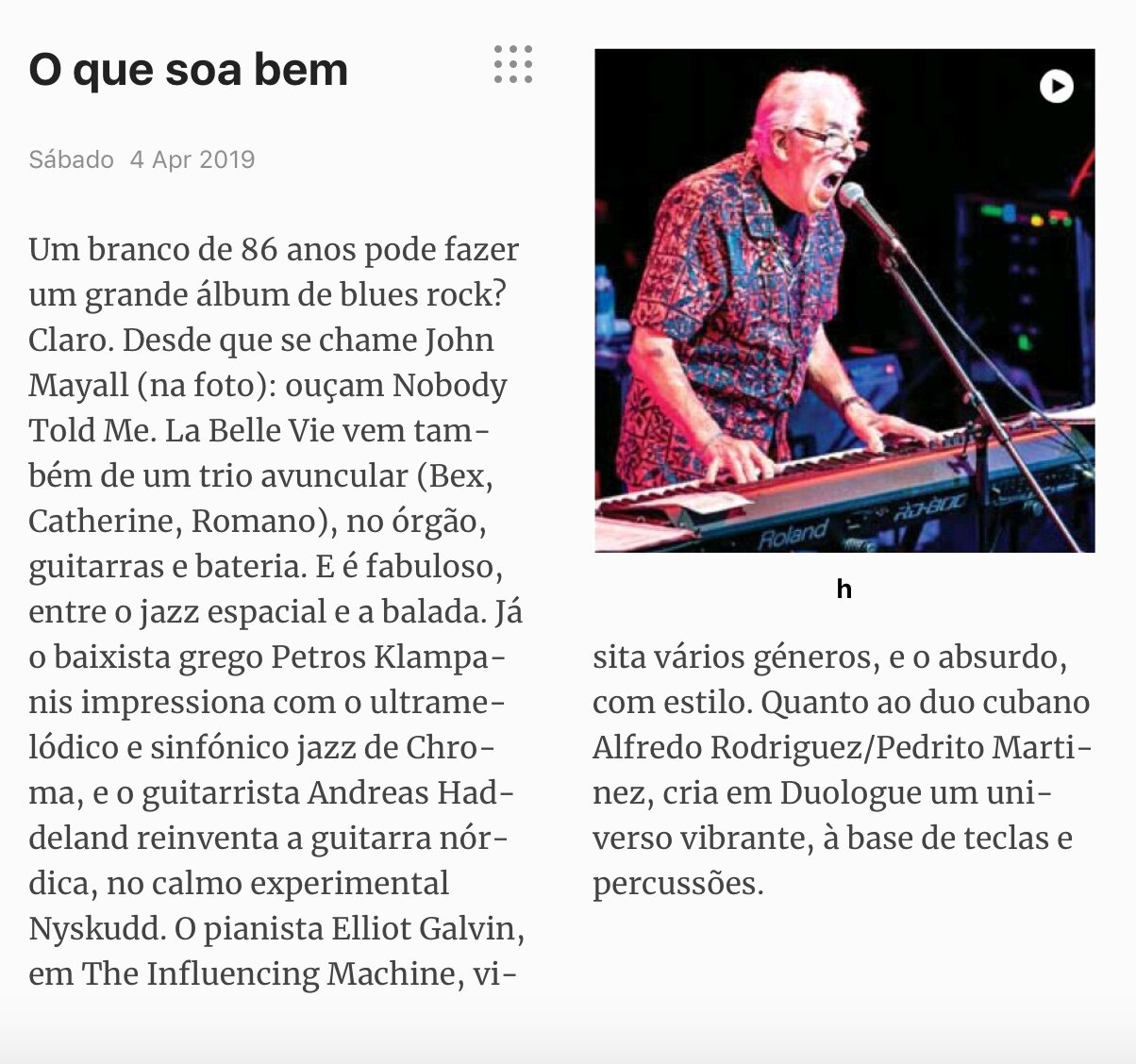From the Portuguese journal Sabado