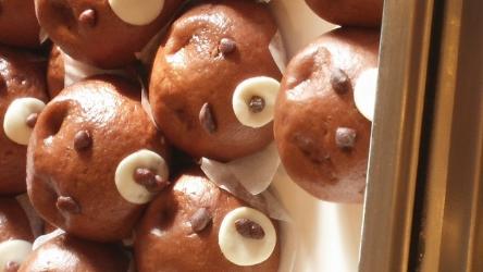 (Little things – like the bear shaped red bean dumplings at breakfast)