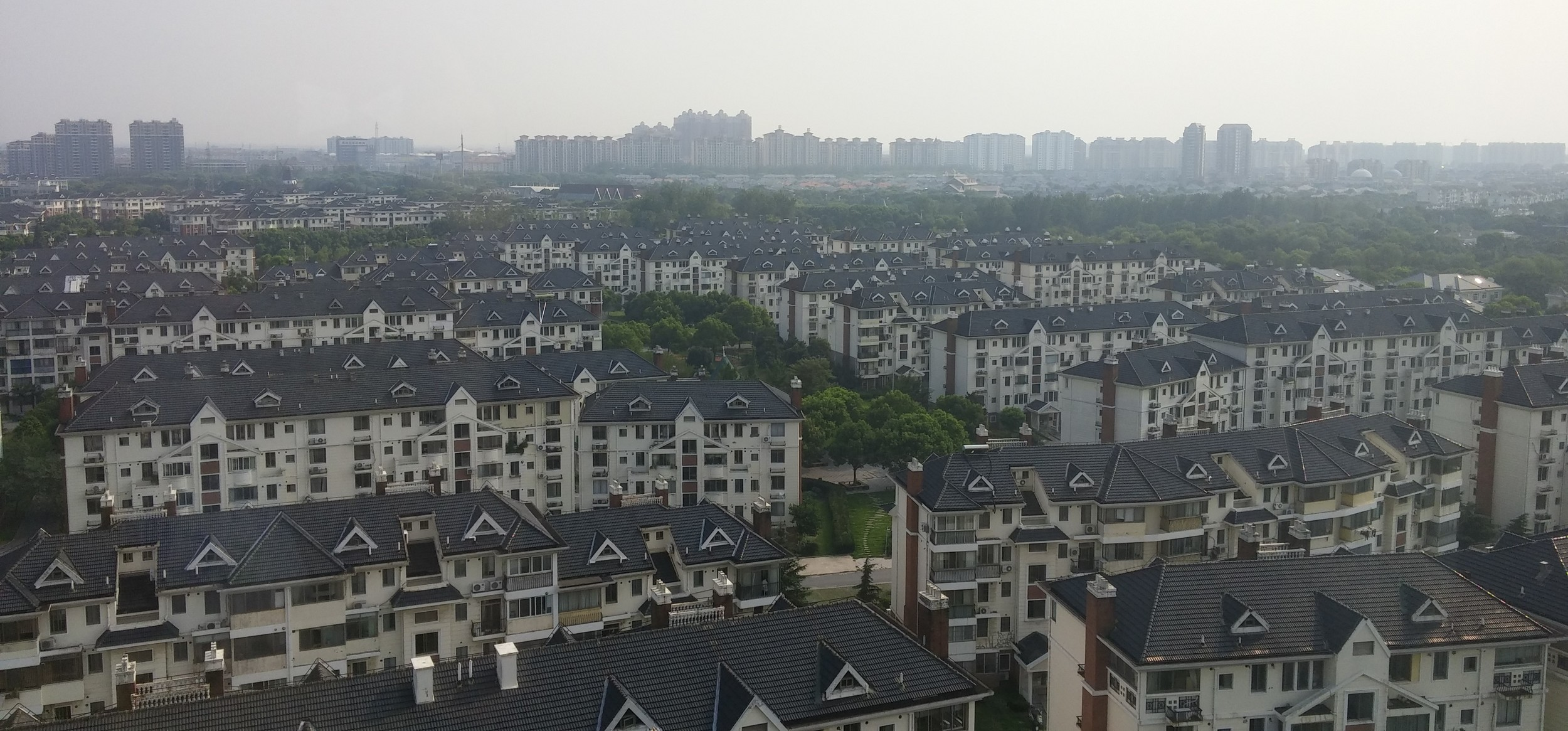 A view from a hotel in a Shanghai suburb where AYC orientation took place