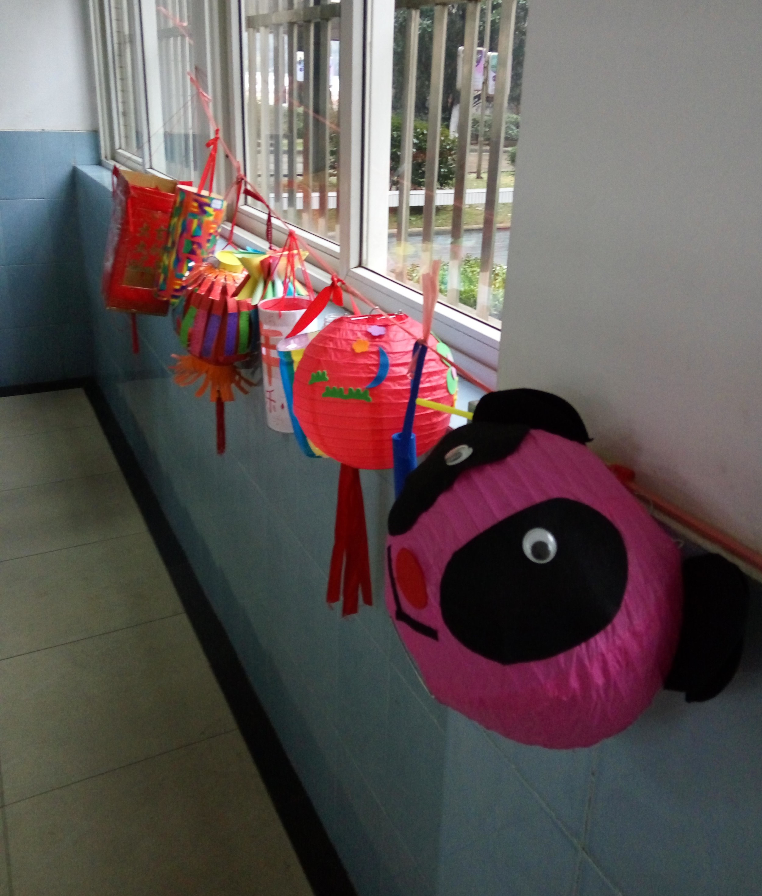 During the Lantern Festival the halls were lined with student made paper lanterns.