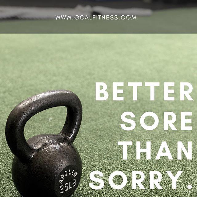 Better Sore Than Sorry ▪️ ▪️ ▪️ #gcalfit #woodlandhills #tarzana #personaltrainer #healthy #fitfam #igfitness