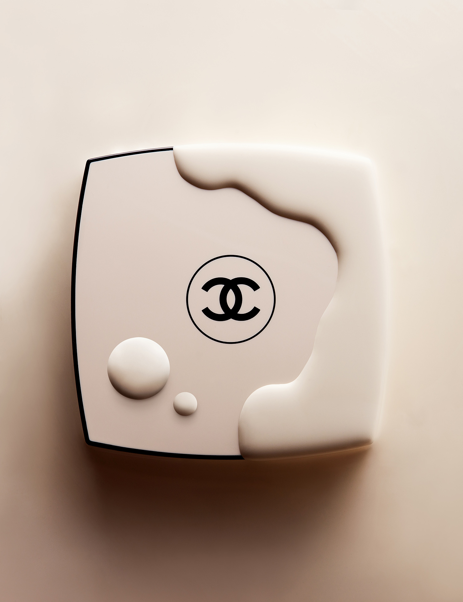 chanel make up compact cosmetics cream still life