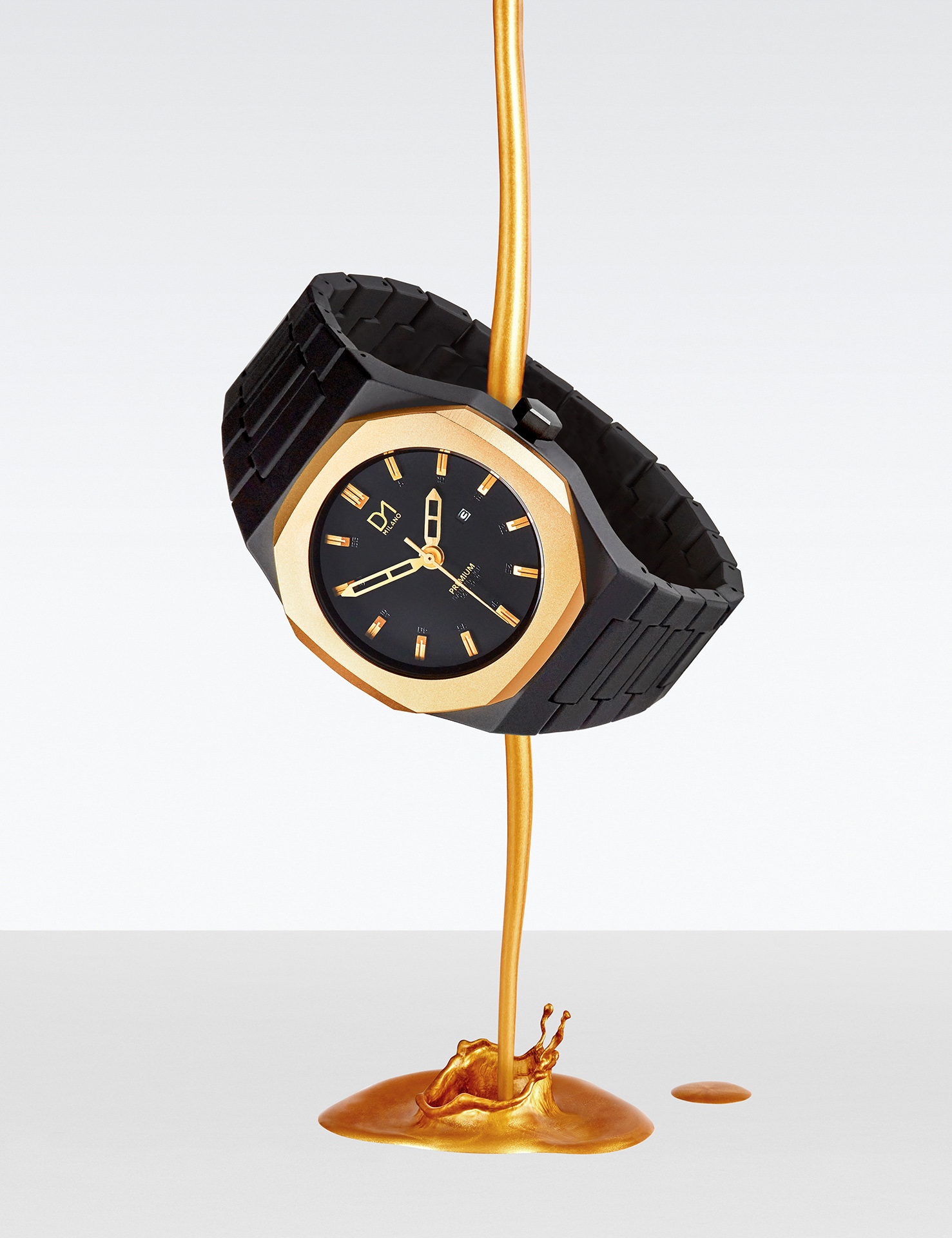 gold watch d1 milano timepiece creative still life photography london photographer