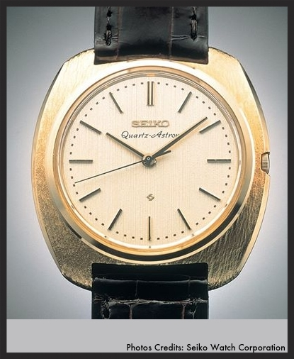 The Seiko Astron, the world's first quartz wristwatch. Photo credit  Nihon Watches .