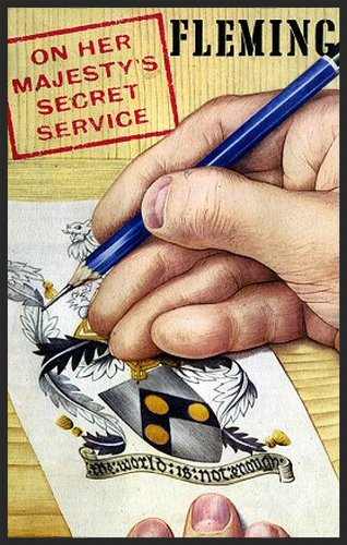 The original cover of On Her Majesty's Secret Service featuring Bond's Coat of Arms.