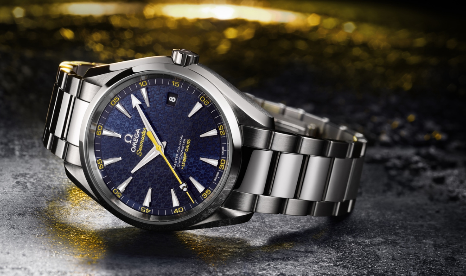The new Omega Seamaster Aqua Terra 150M James Bond Limited Edition.   © OMEGA Ltd