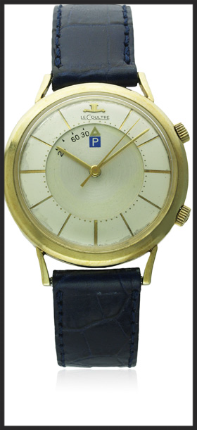 """Jaeger LeCoultre Memovox """"Parking Meter"""" . Photograph courtesy of  Watches of Knightsbridge ."""