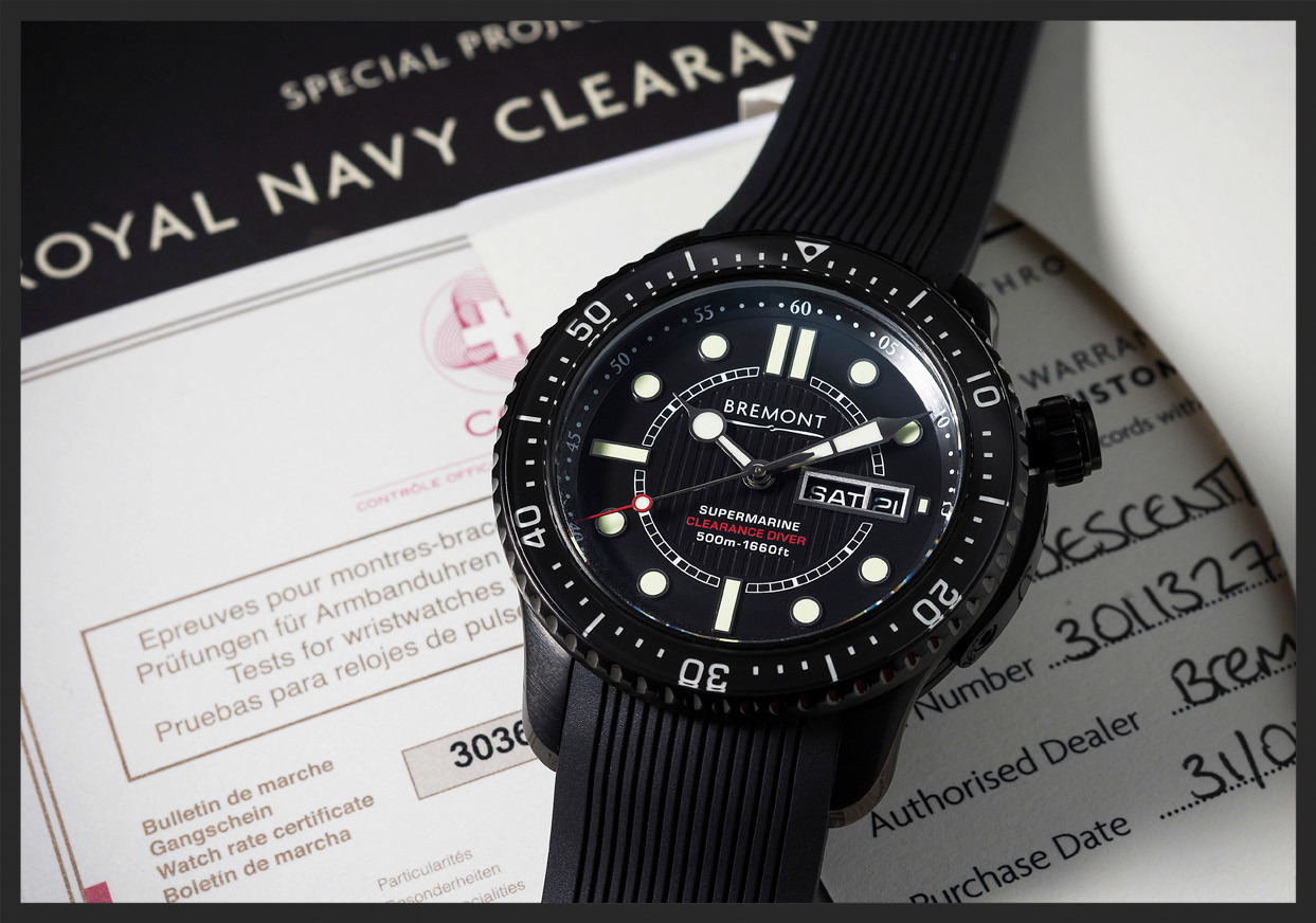 The Bremont Supermarine DescentRoyal Navy Clearance Limited Edition. Photograph Courtesy of  Watches of Knightsbridge .