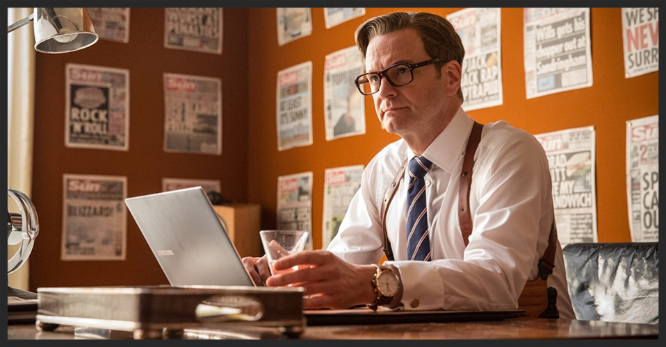 Colin Firth as Harry Hart wearing the Bremont Kingsman Rose Gold Special Edition, © Bremont Ltd