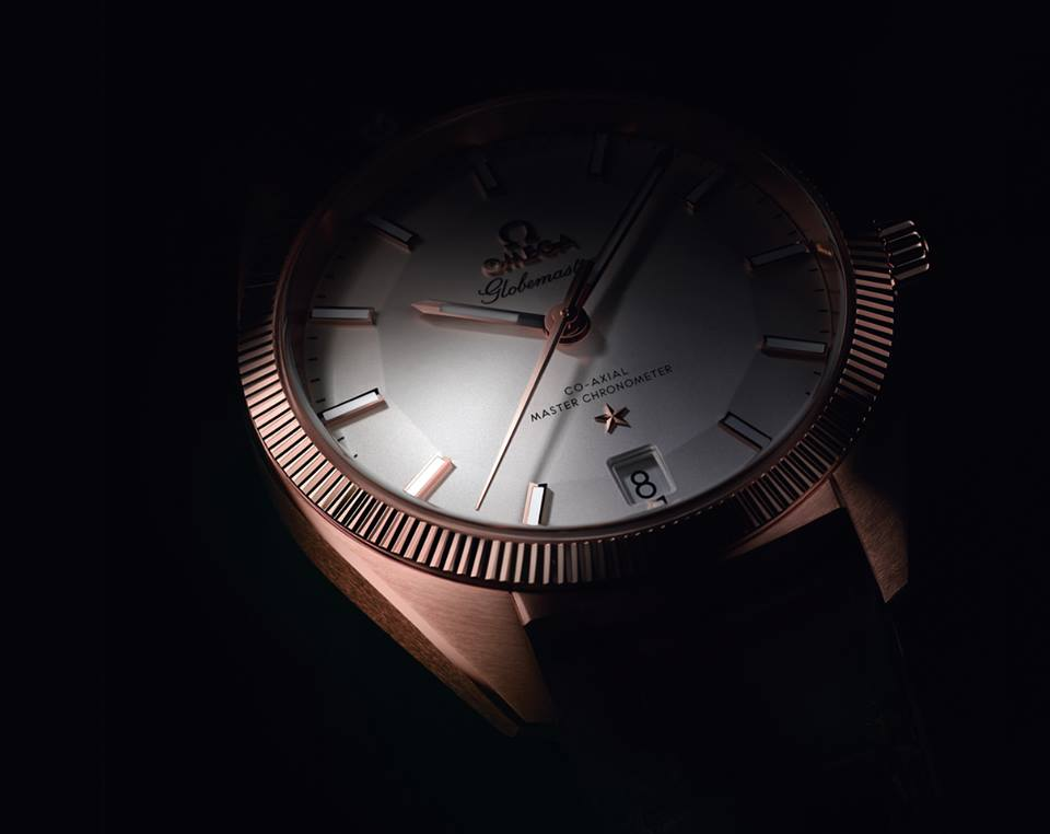 The fluted bezel and pie pan dial on full display. ©Omega Ltd
