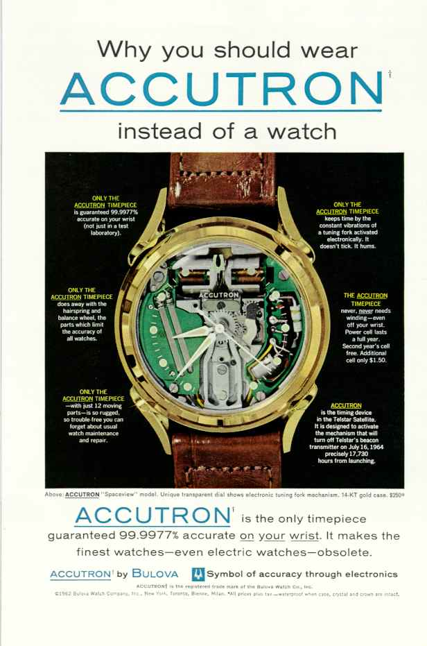 It's not a watch, it's an Accutron.