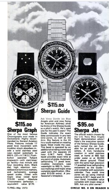 Enicar Sherpa adverts Flying Magazine 1973.png