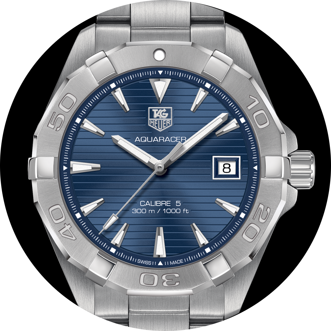 Men's TAG Heuer Aquaracer Calibre 5 300m Ref. WAT2112.BA0928. Photo courtesy of TAG Heuer.