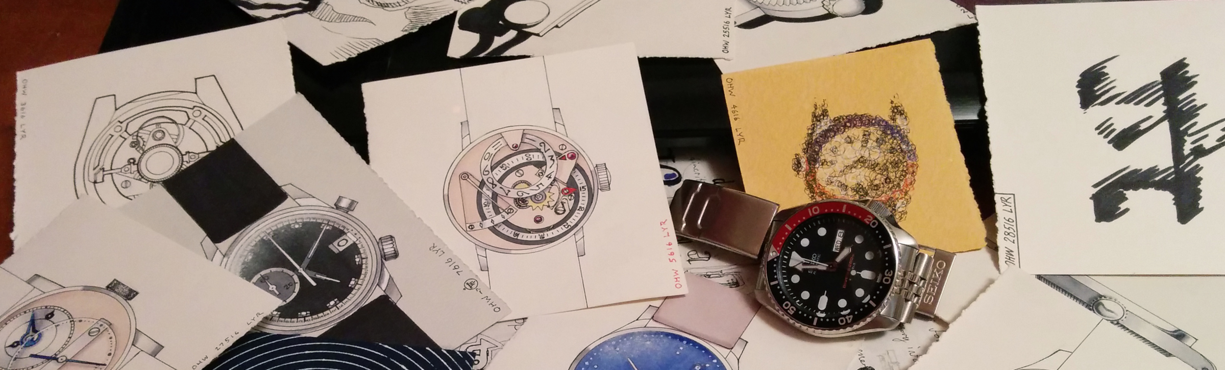 Lee's designs with his Seiko SKX009