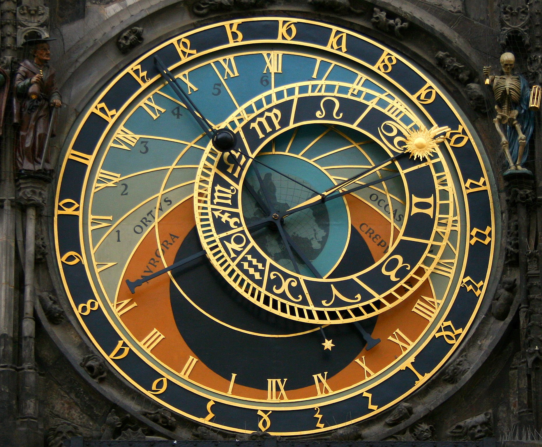 The Astronomical Clock in Prague. Photo courtesy of wikimedia.