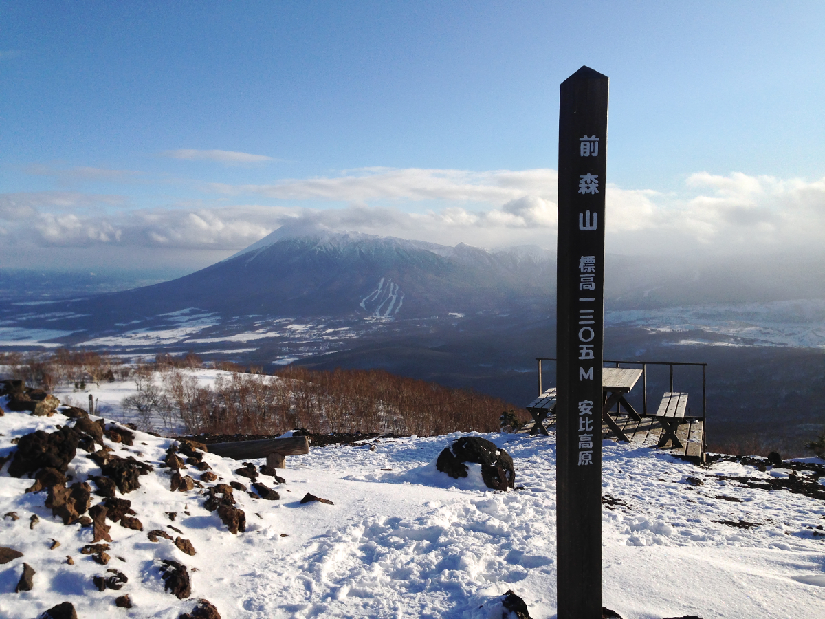 Mount Iwate as seen from a nearby mountaintop. the seiko manufacture is located on the other side of the mountain.