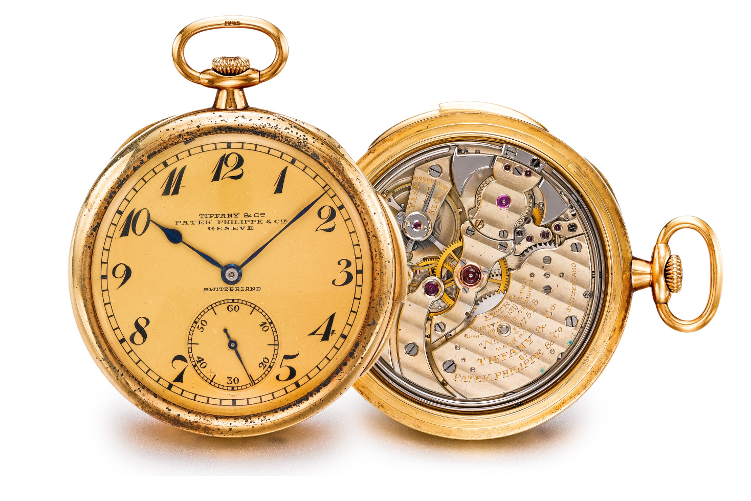 A Tiffany & Co. & Patek Philippe double-signed minute repeating pocket watch. Photo courtesy of Sotheby's.