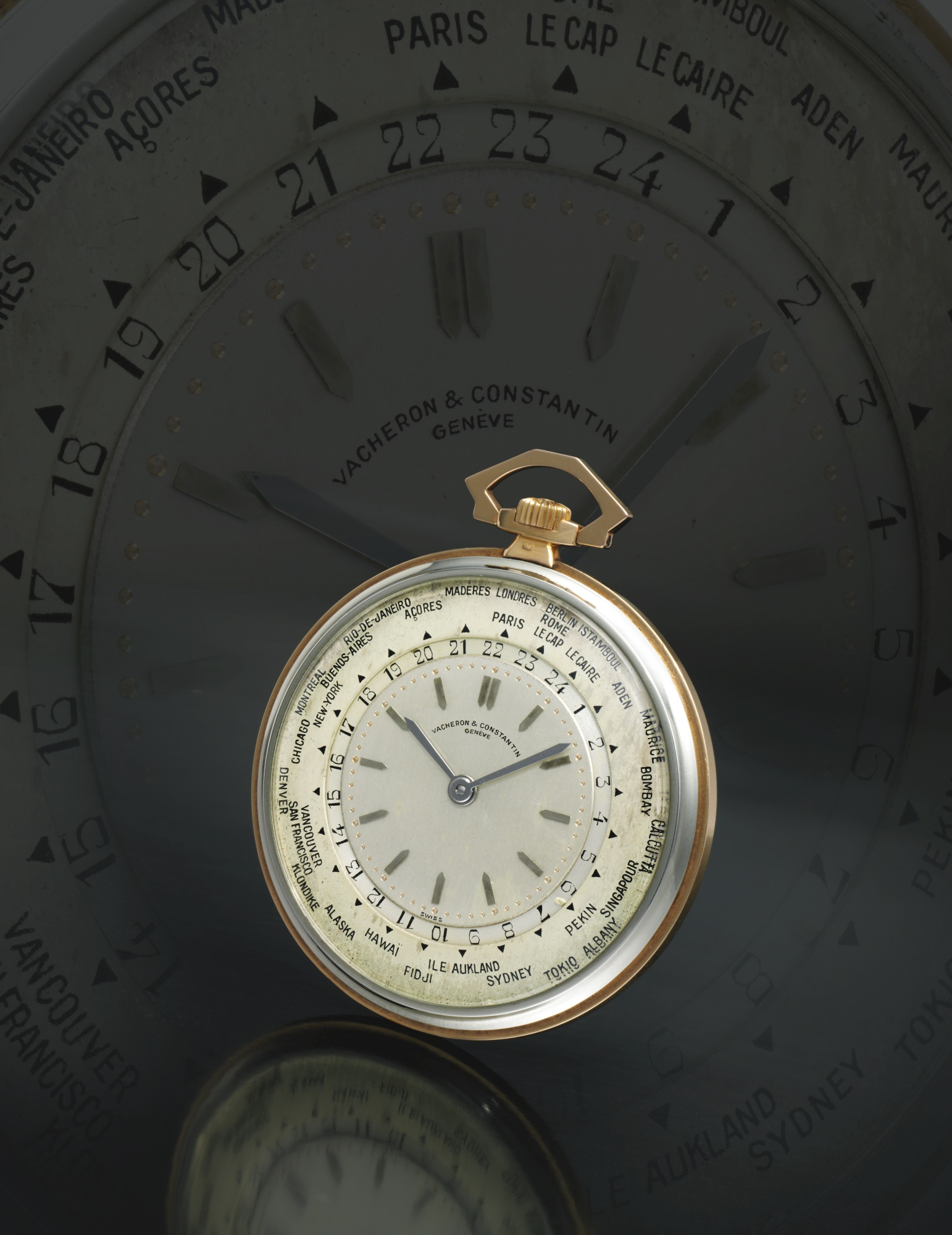 The Vacheron Constantin Ref. 3372 World Timer Pocket Watch.