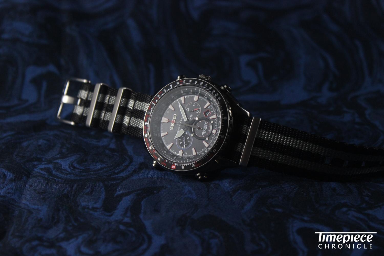 The Seiko Ref.SSG007 with a BluShark 'Bond' Nylon strap.