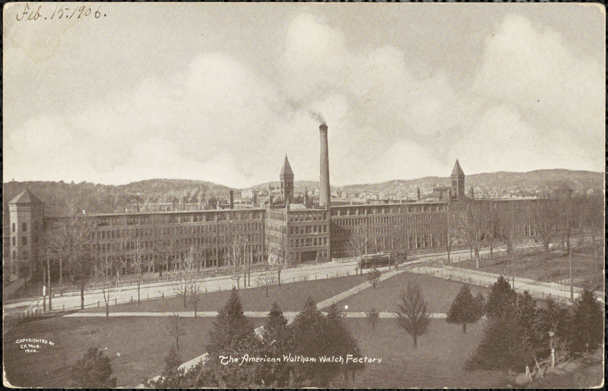 The American Waltham Watch Factory circa 1906.