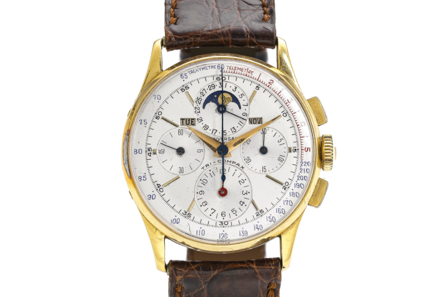 Universal Geneve Tri-Compax Ref. 12266. Photo courtesy of Sotheby's.