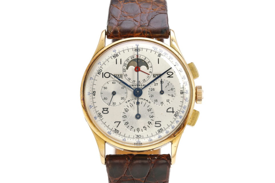 Universal Geneve Tri-Compax Ref. 12283. Photo courtesy of Sotheby's.