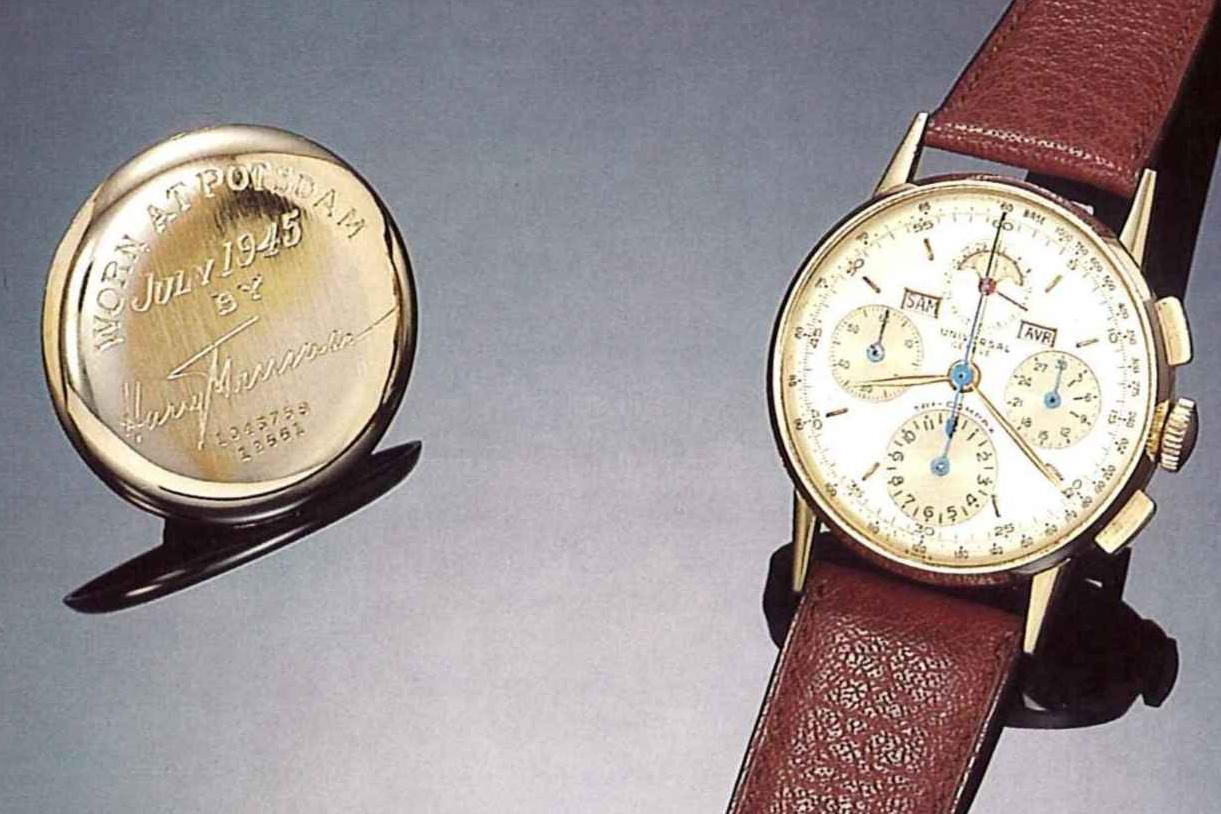Universal Geneve Tri-Compax Ref. 12551 worn by President Harry S. Truman. Photo courtesy of Antiquorum.
