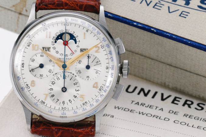 Universal Geneve Tri-Compax Ref. 22279. Photo courtesy of Sotheby's.