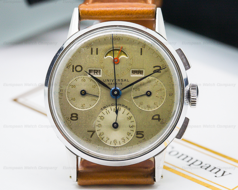 Universal Geneve Tri-Compax Ref. 22536. Photo courtesy of the European Watch Company.