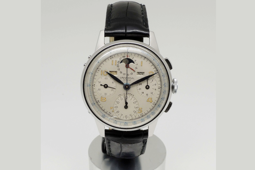 Universal Geneve Tri-Compax Ref. 42409. Photo courtesy of Ancienne.