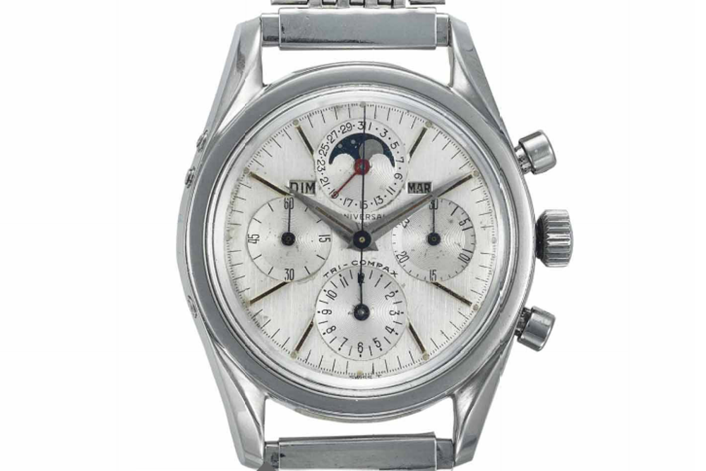 Universal Geneve Tri-Compax Ref. Ref. 222100/1. Photo courtesy of Christies