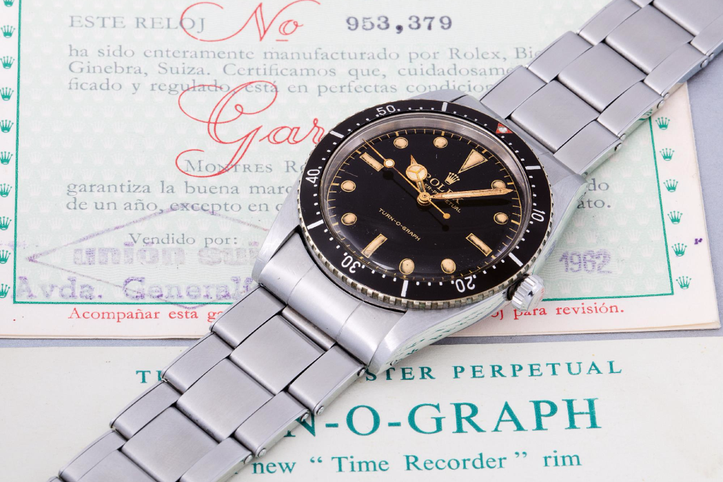 The Rolex Turn-o-graph Ref. 6202. Photo courtesy of Phillip's.