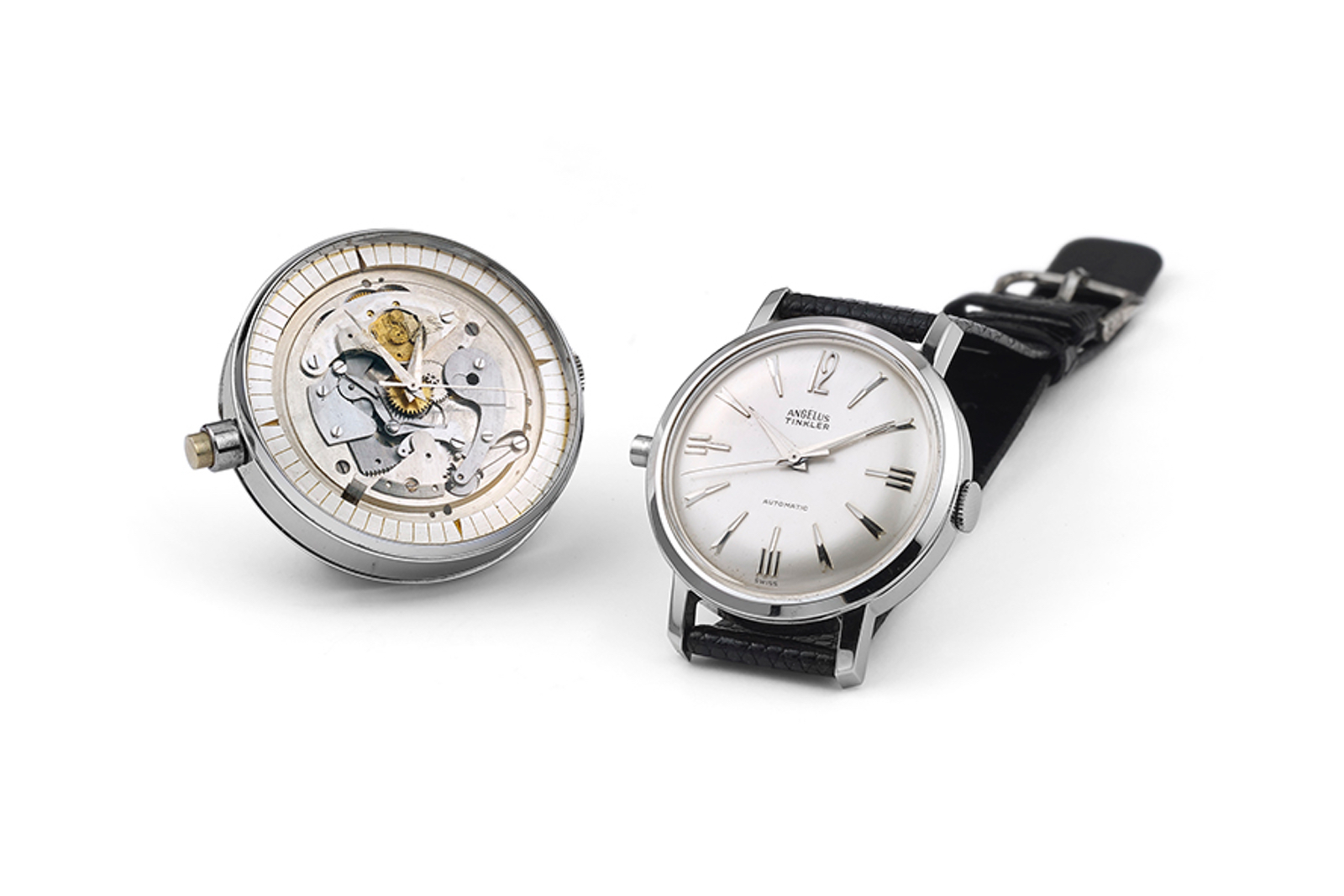 The Angelus Tinkler and exhibition dial. Photo Courtesy of Professional Watches