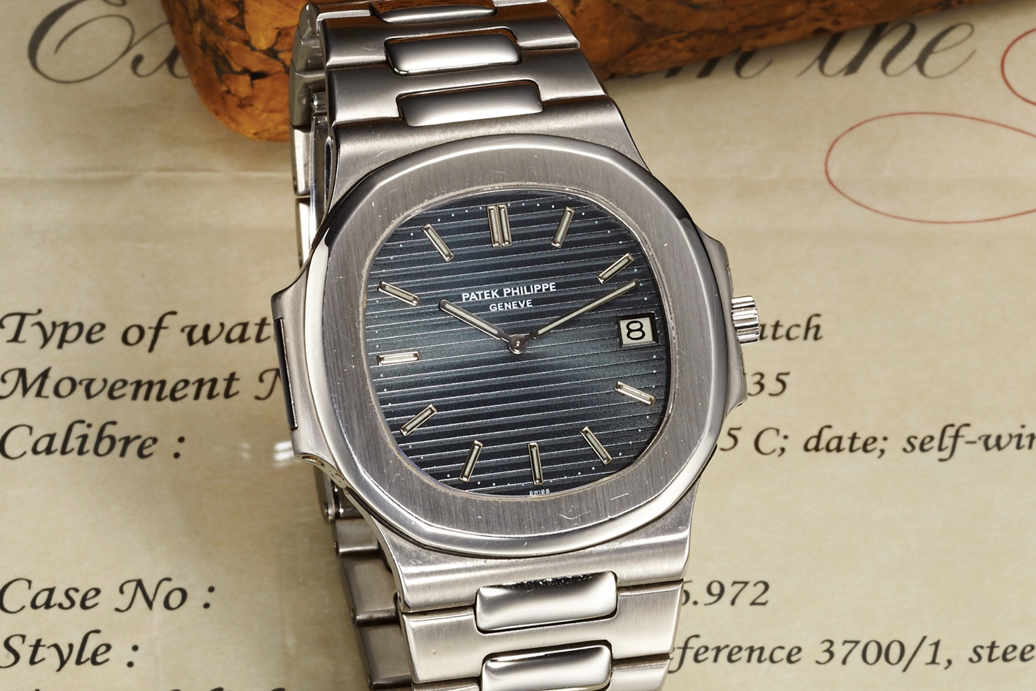 The Patek Philippe Nautilus Ref. 37001. Photo courtesy of Antiquorum.