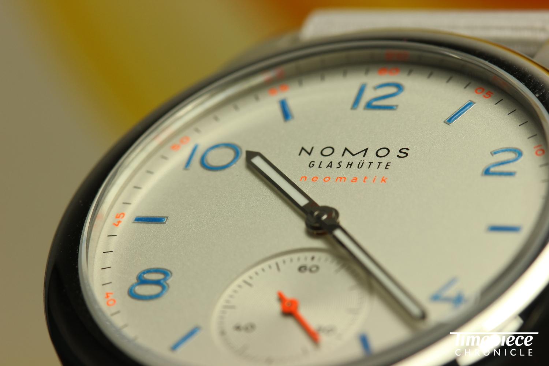 Nomos Club Neomatik dial shot 6.JPG