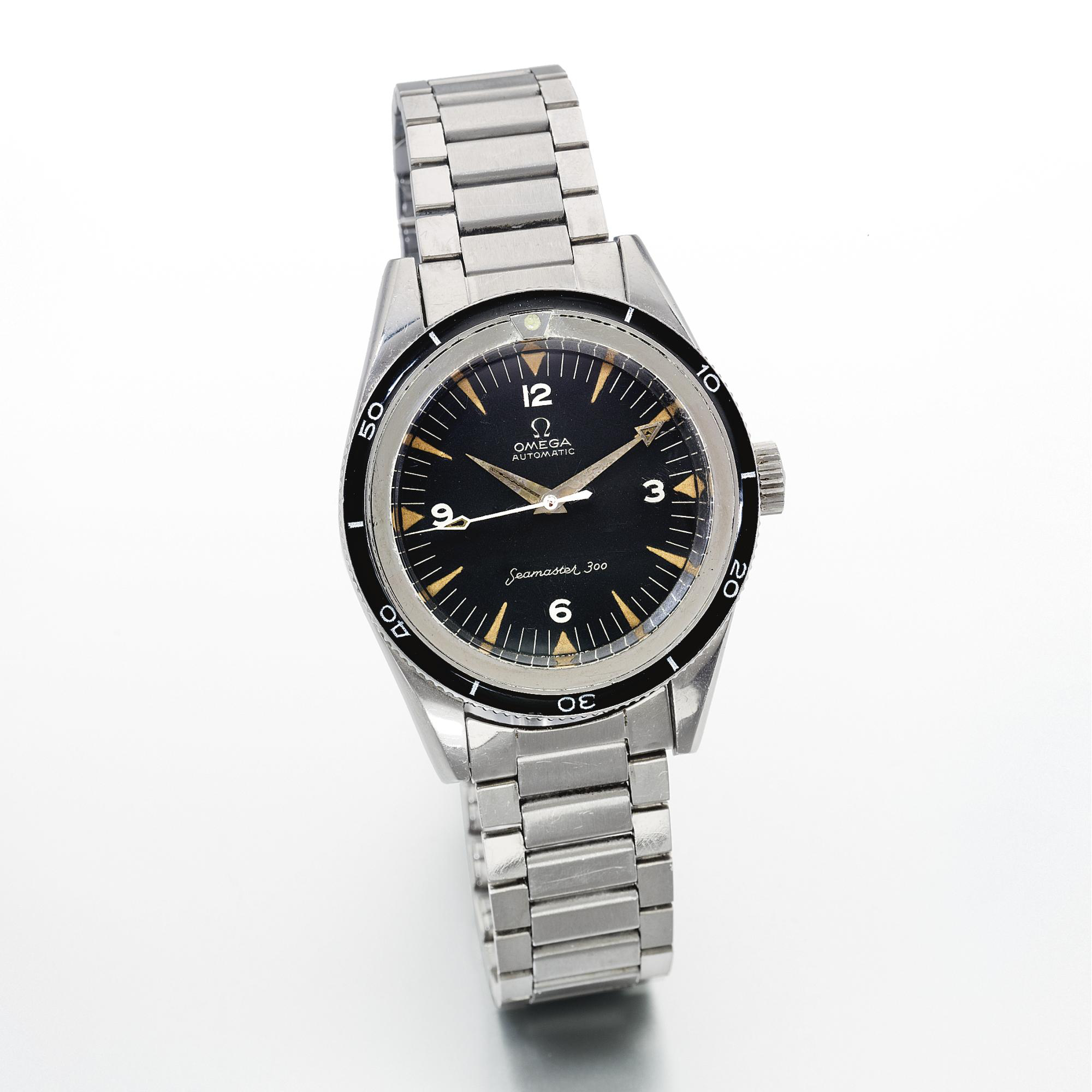 The Omega Seamaster 300 CK2913 with forward count bezel. Photo courtesy of Sotheby's.