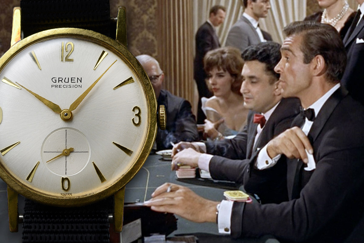 The most overlooked Bond watch, the Greun Precision 501 as seen in  Dr No .