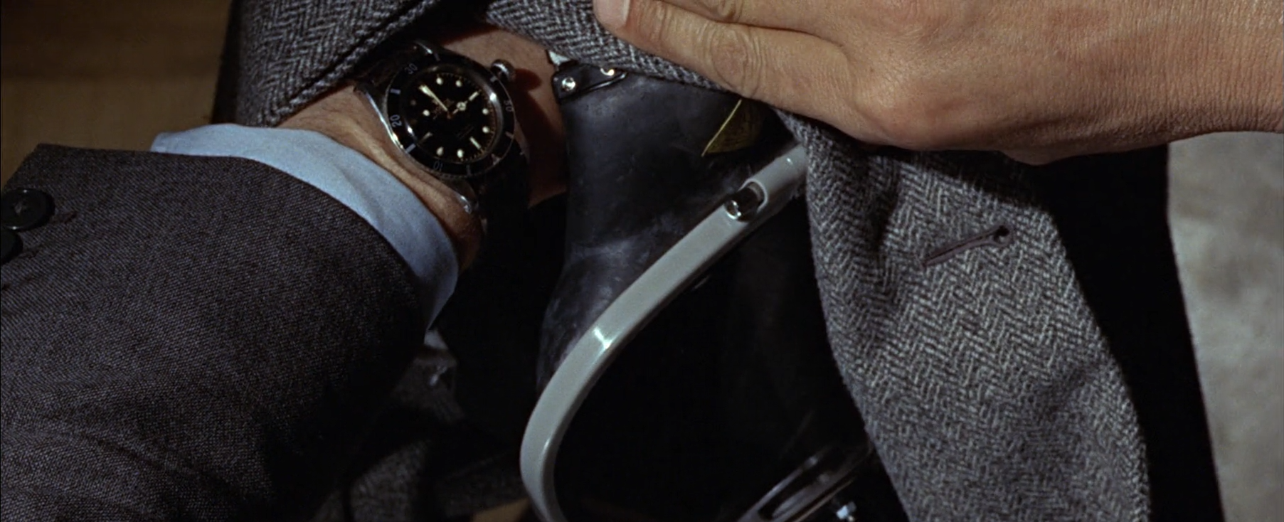 The Rolex Submariner Ref. 6538 and the colored nylon strap seen in  From Russia With Love .