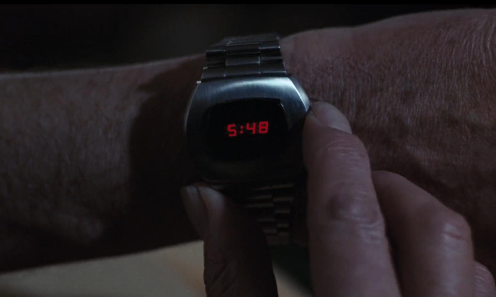 The Hamilton Pulsar P2 digital LED watch.