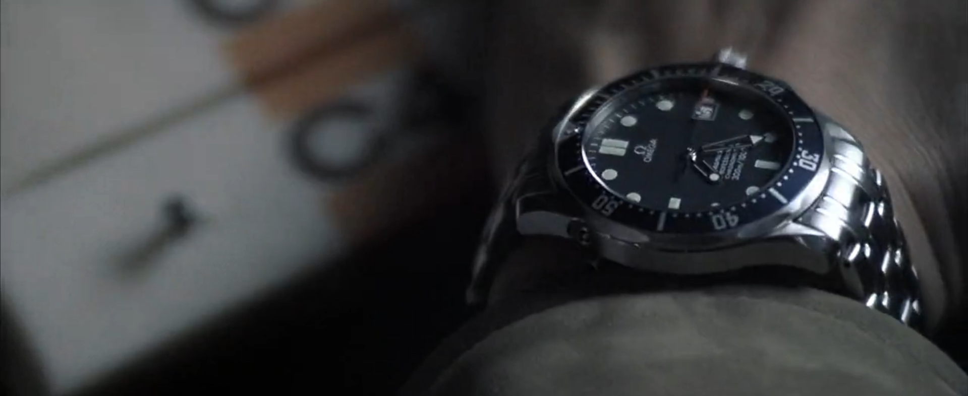 One of the many times that Pierce Brosnan uses the helium release valve as a Q gadget. Maybe that's the reason Omega keep it on their watches?
