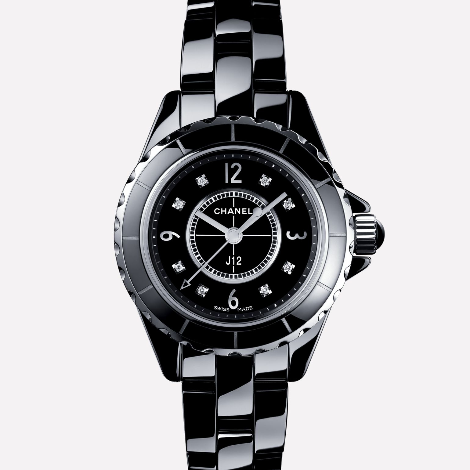 The Chanel J12 in black ceramic. Photo courtesy of Chanel.