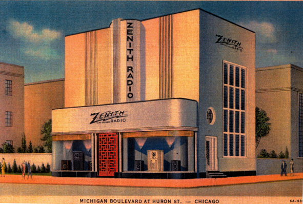 A Zenith Radio Corporation storefront from 1930. Not particurarly relevant to watches but I liked the design so here it is.