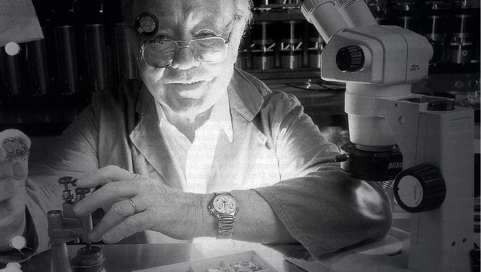 Charles Vermot at work. Photo courtesy of Zenith.