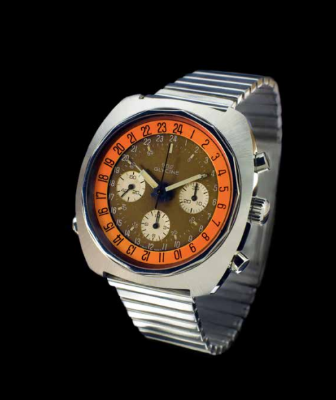 The incredibly rare Glycine Airman SST Chronograph. Photo courtesy of Andre Stikkers.